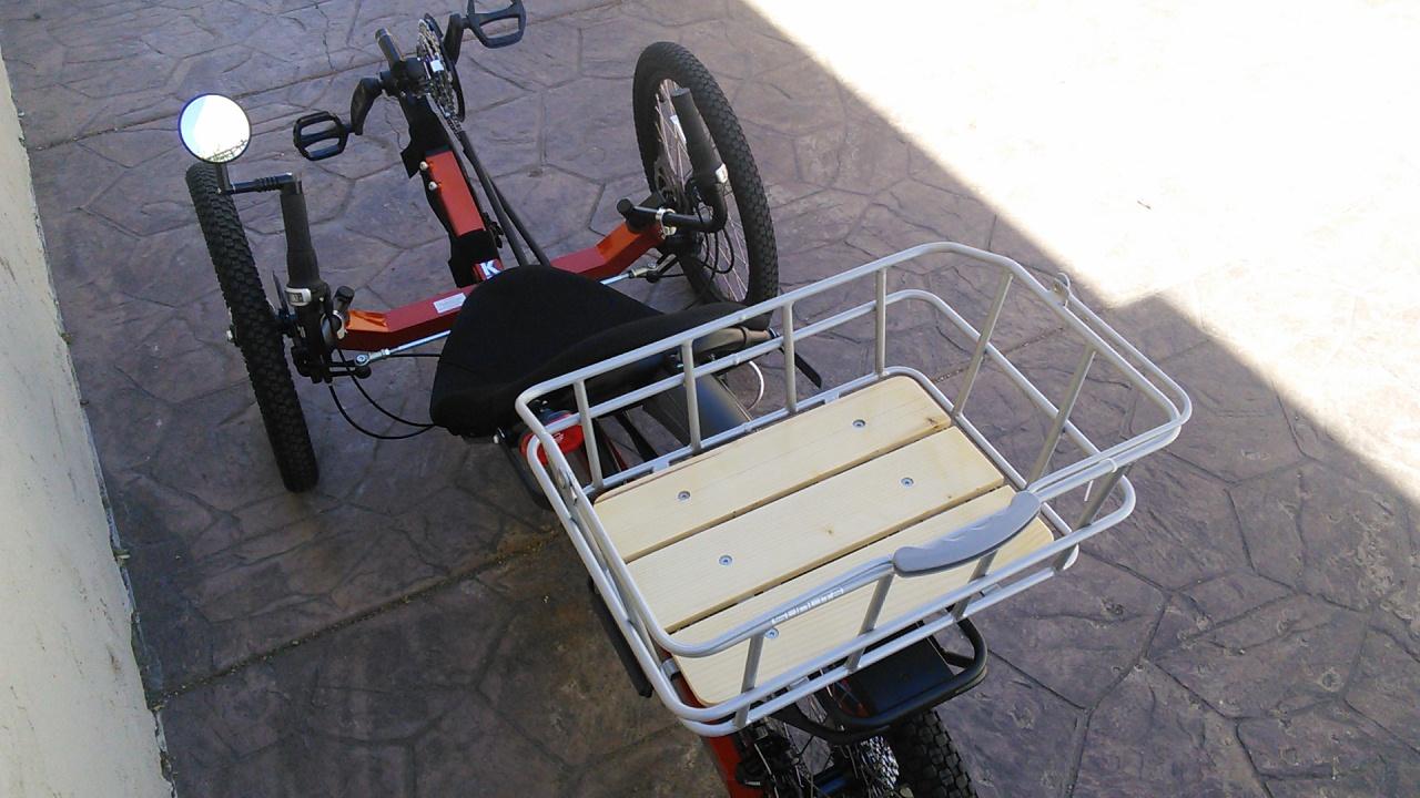 Utah Trikes Trikes Featuring Woody Rack Top Rear Basket