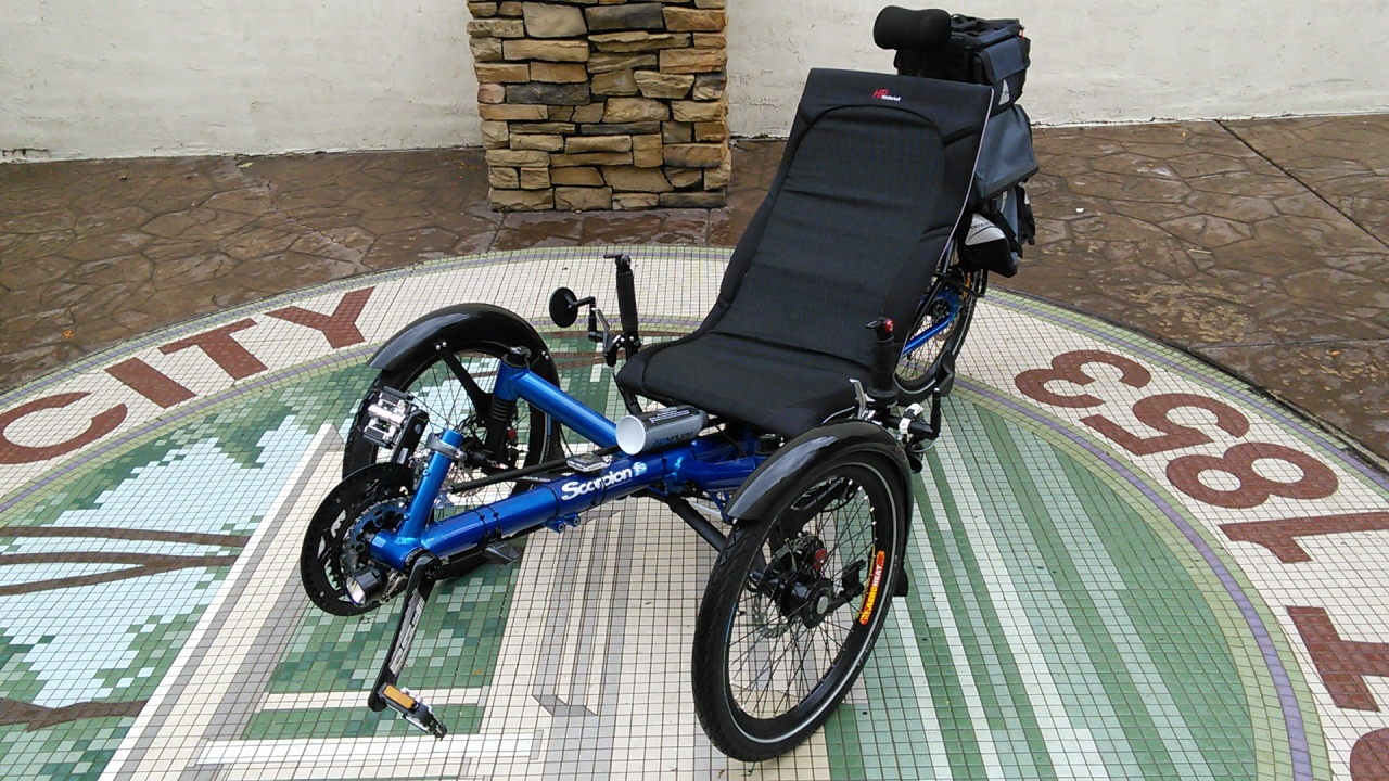 HP Velo Scorpion FS 20 Folding Recumbent Trike