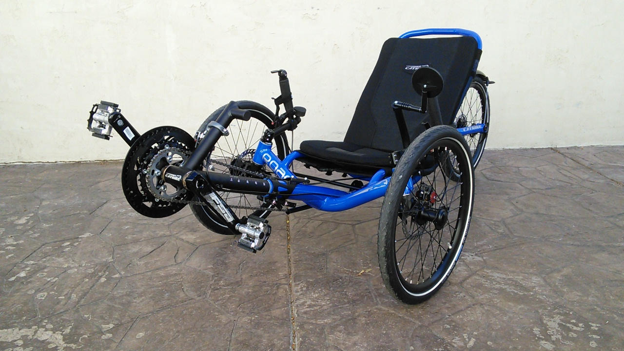 Catrike Road Suspension Trike Electric Blue