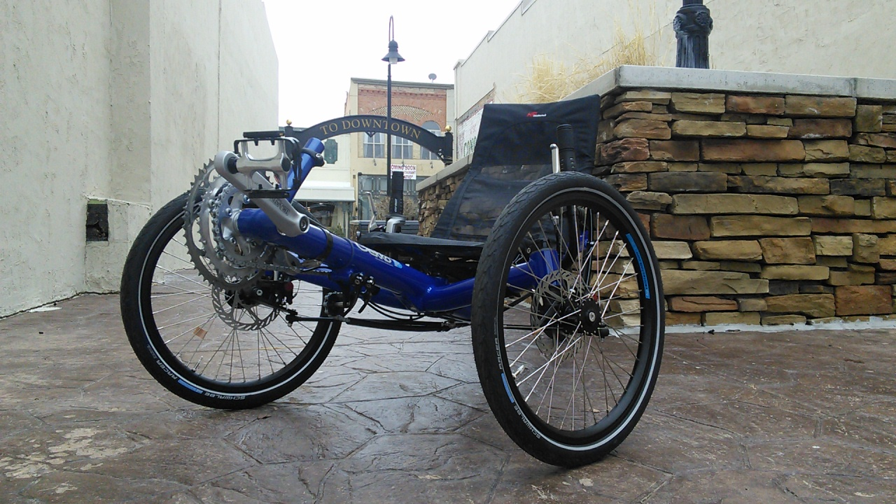 HP Velo Gekko FX26 Folding Trike Deep Blue