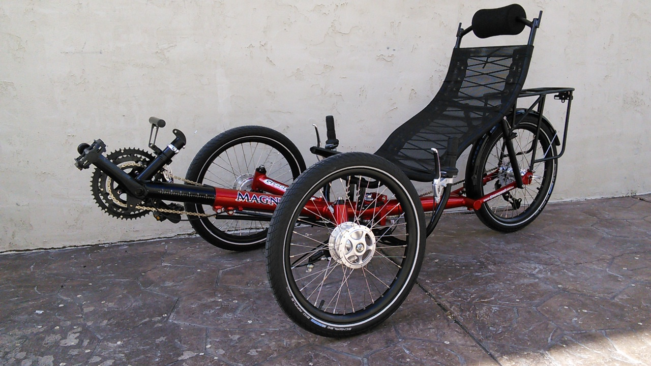 Utah Trikes Red Greenspeed Magnum Folding Trike