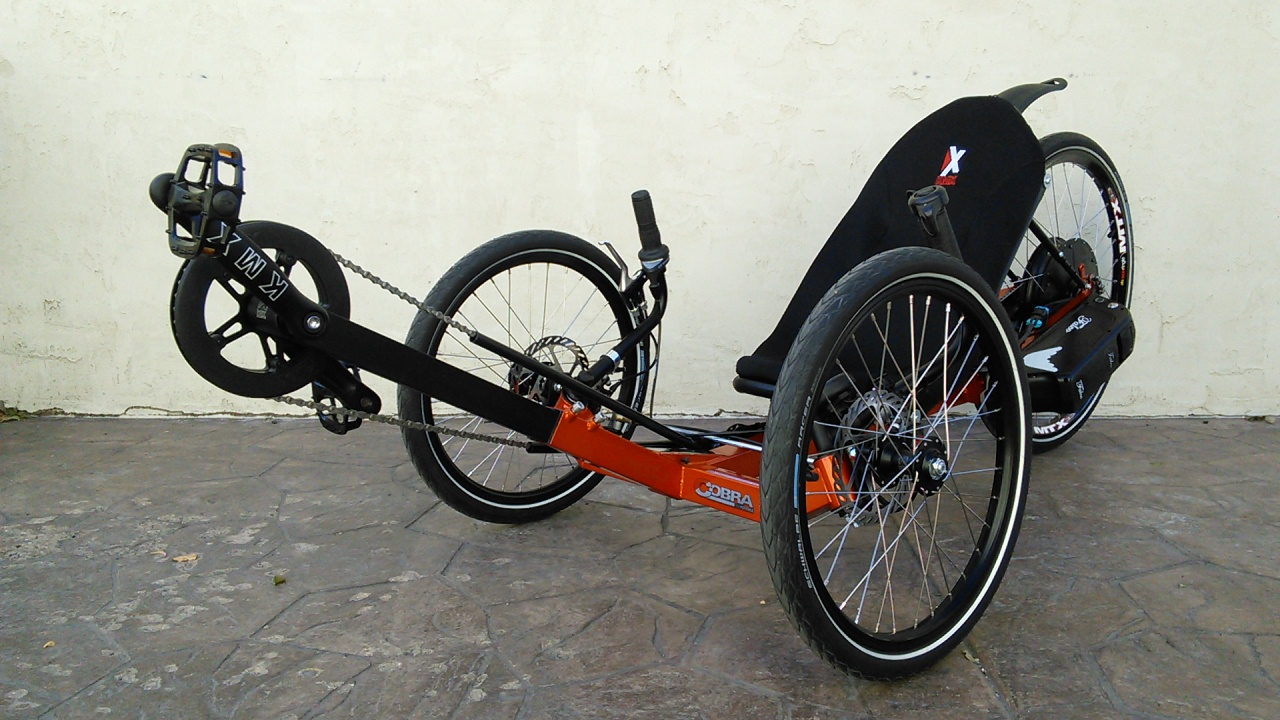 KMX Thunderbolt Motorized Recumbent Electric Trike