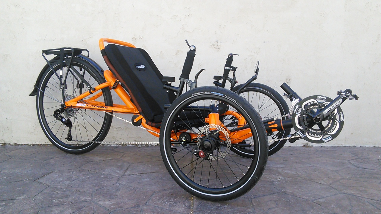 Catrike 559 Folding Trike Atomic Orange