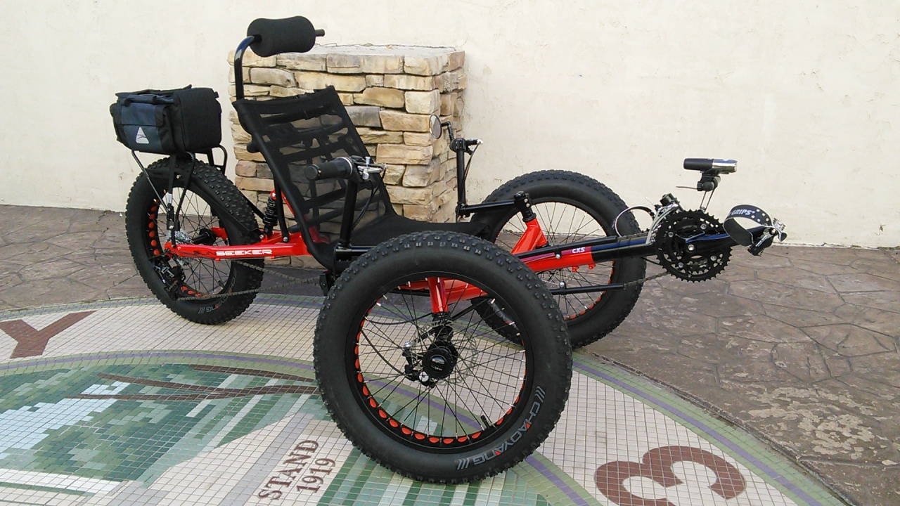 Utah Trikes Sunseeker Fat Tad Csx Red