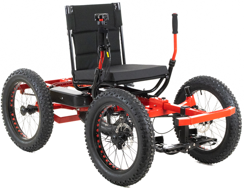 William's Red NotAWheelChair Suspension Rig
