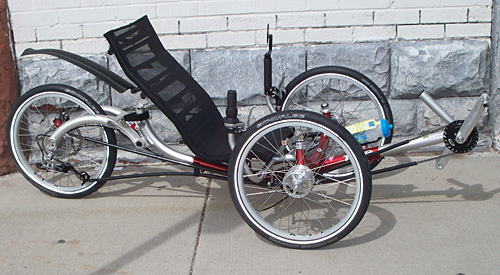 Utah Trikes Mostly Stock Ice Q With 20 Inch Wheel And