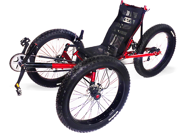 UTCustom Fat Tad Crawler FS - Full Suspension Fat Recumbent Trike