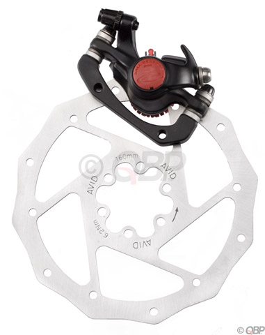 New Avid BB5 Mechanical Disc Brake Set Front Rear Silver 160mm Rotor /& Adapters